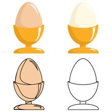 Eggs Set In A Holder, Cup. Men...