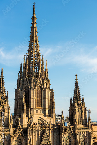 Cathedral of Barcelona in Spain Canvas Print