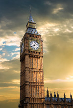 Sunset Over Big Ben Clock Towe...
