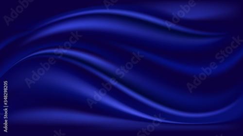Fotografie, Tablou Blue wave satin background