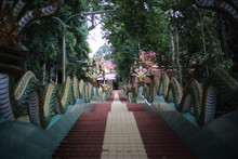 Stairs Of Khao Sukim Temple In...
