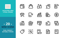 Mini Line Icons About Shopping...