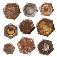 Set Of Various Rusty Heads Of ...