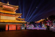 Night Scene Of Chinese Temple