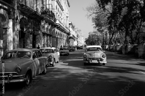 Classic old car on streets of Havana, Cuba Wallpaper Mural