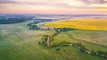 Spring Morning Aerial Rural Pa...