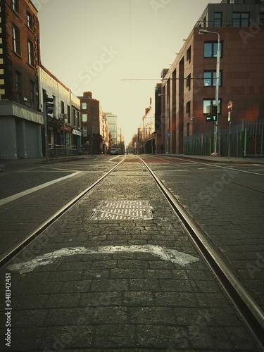 Valokuva Tramway On City Street