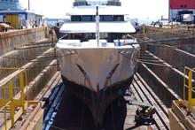 Photo Of Ship Repairs Of Yacht...