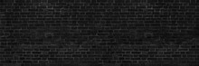 Old Red Brown Brick Wall. Brickwork Of Building Close-up. Long Banner And Wide Panoramic View.