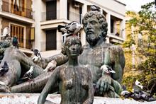 A Statue In A Public Square In...