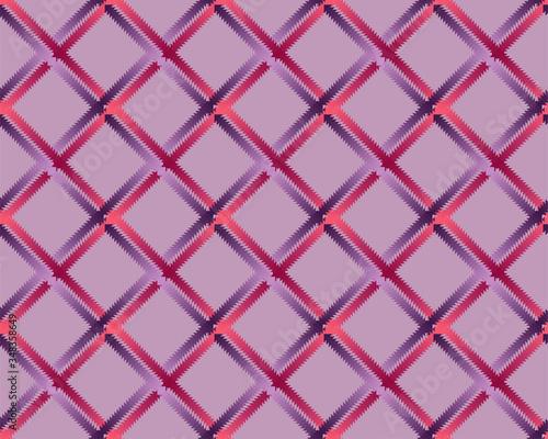 Seamless pink plaid pattern. violet background Wallpaper Mural