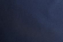 Texture Of Dark Blue Fabric As Background, Closeup