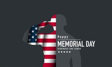 Memorial Day Background Vector Illustration. Remember And Honor.