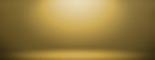 Simple Wide Gold Gradient Abst...