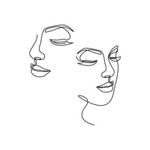 Continuous Line Drawing Of Por...