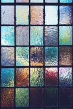 Full Frame Shot Of Multi Colored Stained Glass