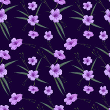 Floral Seamless Pattern In Sma...