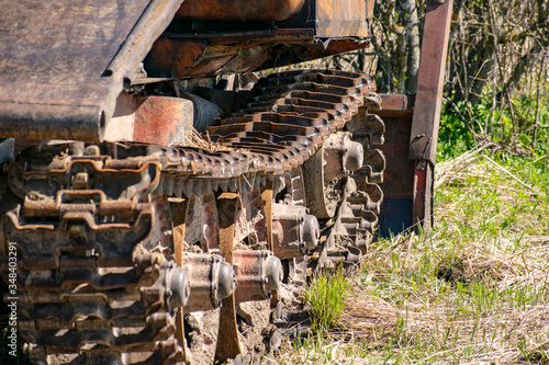 Skidder in the forest awaiting loading. Canvas Print