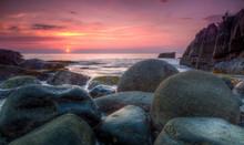 Sunset On Palolem Beach In Goa...