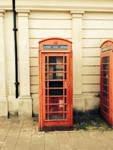 Close-up Of Telephone Booth