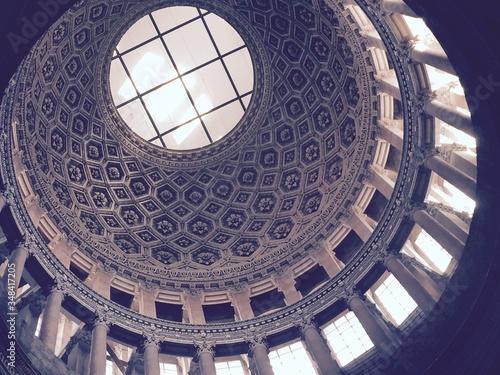 Low Angle View Of Cupola At Church Fotobehang