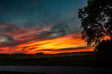 Idyllic Shot Of Orange Sky Ove...