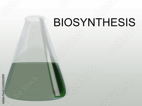 BIOSYNTHESIS - biological concept Canvas Print