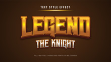 Game Text Style Effect. Editab...