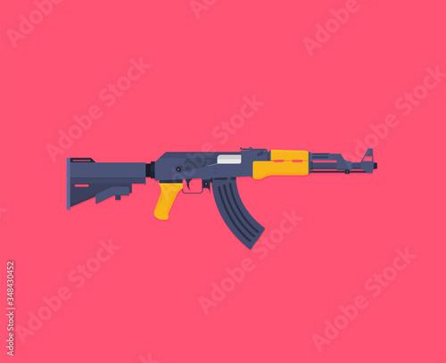 Flat illustration rifle vector for web design Canvas Print