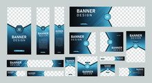 Set Of Abstract Web Banners Of...