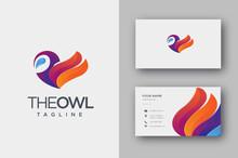 Modern Geometric Colorful Owl ...