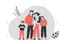Happy Large Family Portrait. F...