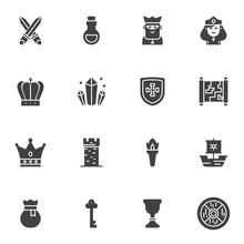 Fairytale Vector Icons Set, Mo...