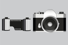 Analog Camera And Two Film Rol...