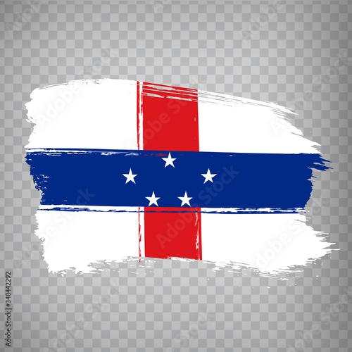 Flag of Netherlands Antilles from brush strokes Wallpaper Mural