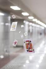 Deck Of Card Flying In Air In ...
