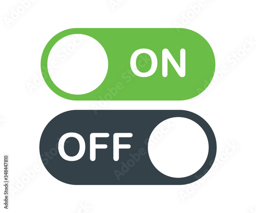 on off activate slider buttons vector Wallpaper Mural