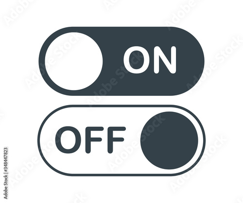Photo on off activate slider buttons vector