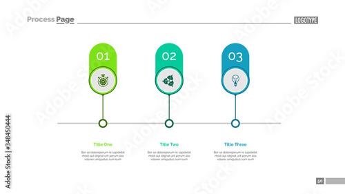 Timeline infographics slide template Canvas-taulu