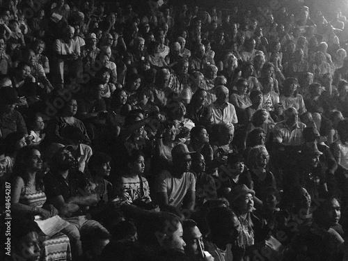 Photo Full Frame Shot Of Crowd Sitting At Stadium