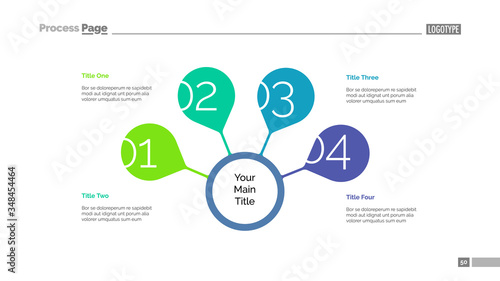 Four steps for success slide template Canvas-taulu
