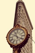 Flatiron Building And Fifth Avenue Clock