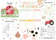 Little Farm Kids Weekly Planne...