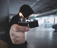 Man With Lighter