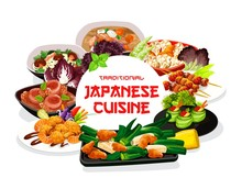 Japanese Cuisine Meals Round V...