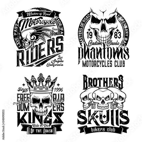 Stampa su Tela Skull t-shirt prints
