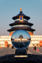 Temple Of Heaven Beijing, Chinese Temple In China Inside A Lensball