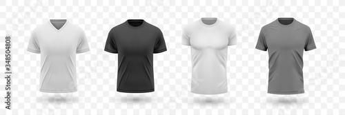 Fotografie, Obraz Realistic male shirt mockups set