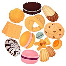 Cookies Pastry Pattern Flat Ve...