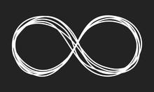 Infinity Symbol Scribble On Black Background